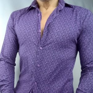 Other - SlimFit Purple designer casual long sleeve small